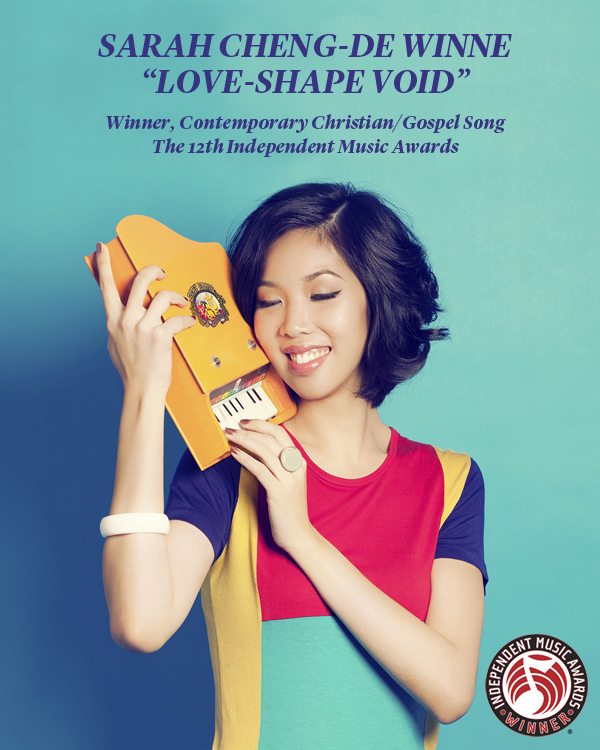 """SARAH WINS AT THE 12TH ANNUAL INDEPENDENT MUSIC AWARDS WITH """"LOVE-SHAPE VOID"""""""