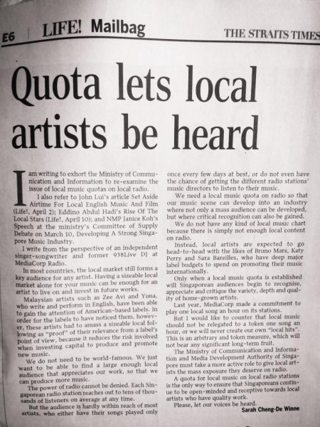 quota let our voices be heard